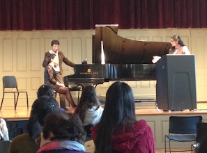 Photo: Zora Tsuker teaches a master class at the Boston Conservatory, October 30, 2013.