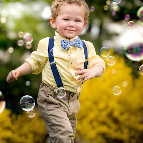 Easter Bubbles by Mike DeMicco - Babies & Children Child Portraits