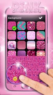 Pink Glitter Keyboard - náhled