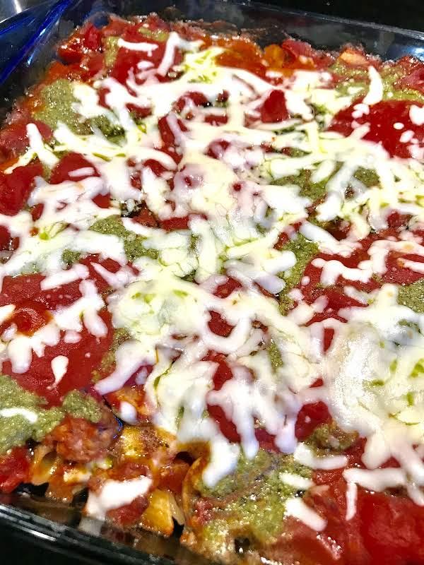Penne Pesto Swirl Casserole Recipe