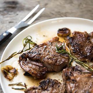 Rosemary Garlic Grilled Lamb Chops.