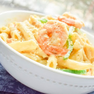 Shrimp Pasta in Coconut Sauce.