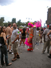 Photo: Gay pride festivities, Christopher and Weehawken streets, Greenwich Village, 26 June 2011. (Photograph by Elyaqim Mosheh Adam.)