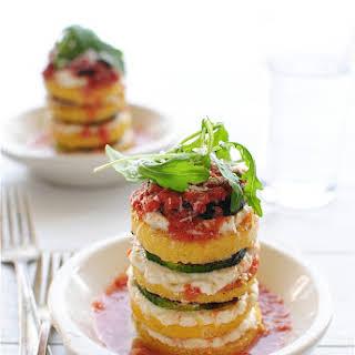 Vegetarian Polenta Lasagna Stacks.