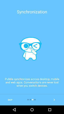 Screenshots for Pubble Messenger