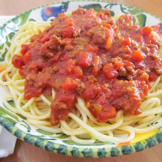 Homemade Beefy Spaghetti Sauce.