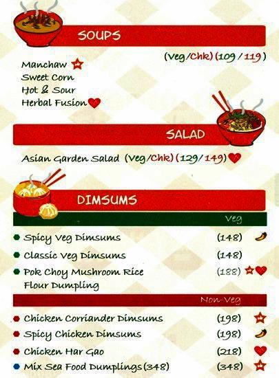 Orange Chopstick menu 1