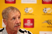 Bafana Bafana head coach Stuart Baxter announcing his Africa Cup of Nations squad in Johannesburg on June 9 2019.