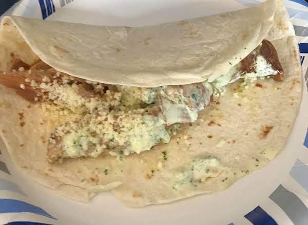 Shredded Pork Burritos W Cilantro Tomatillo Ranch Recipe