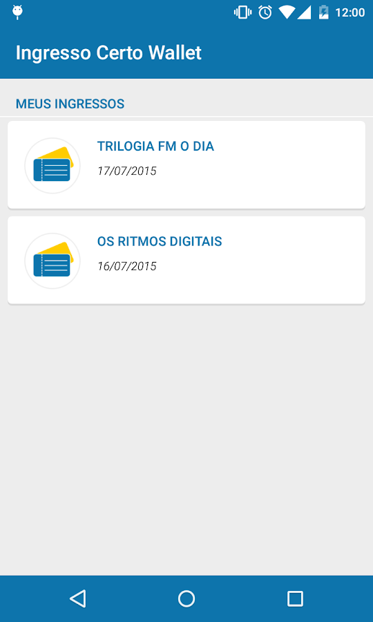 Ingresso Certo Wallet- screenshot
