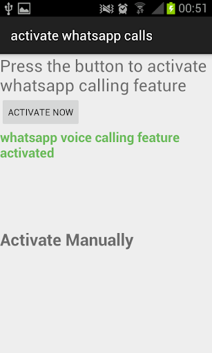 Enable Whatsapp Voice Call