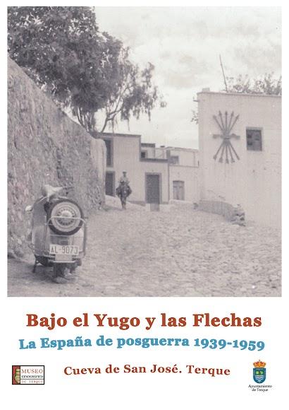 Cartel de la exposición de los Museos de Terque que puede visitarse en la Cueva de San José de la localidad..