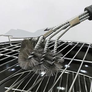 Perie din otel inoxidabil pentru curatat gratarul, dimensiune 43 cm
