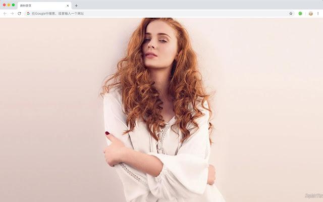 Sophie Turner New Tab, Wallpapers HD