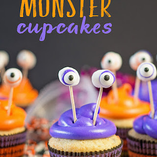 Easy Monster Cupcakes for Halloween