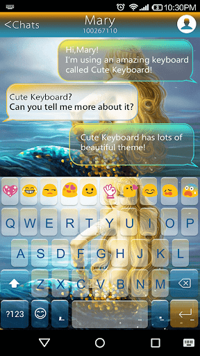 Mermaid Emoji Keyboard Theme