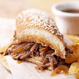 Simple French Dip Sandwiches.