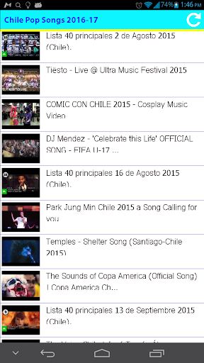 Chile Pop Songs 2016