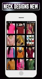 Latest Neck Catlog Kurti Collar Designs Girls Idea - náhled