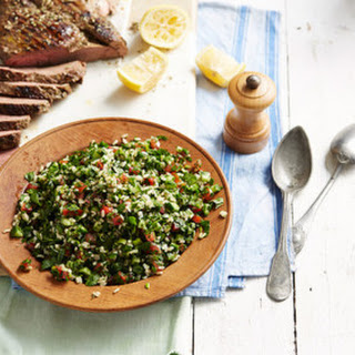 Tabouleh Rice Salad With Barbecue Lamb