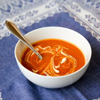 Dairy-Free Tomato Soup with Cumin and Red Pepper Chili