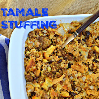 Tamale, Cornbread and Chorizo Raisin Stuffing