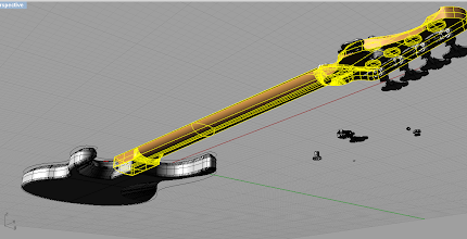 Photo: The neck. It glows yellow because I've selected it, it doesn't really glow. Hah