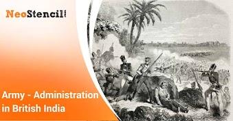 Army - Administrative Organization in British India