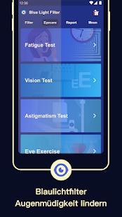 Blaulichtfilter: Nachtmodus, Schütze die Augen Screenshot