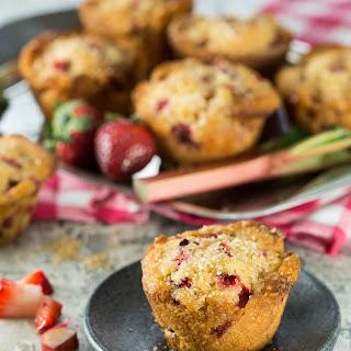 Strawberry Rhubarb Muffins.