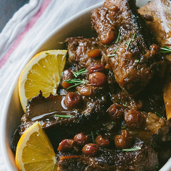Orange + Cranberry Crock-Pot Short Ribs {Gluten-Free & Paleo} Recipe