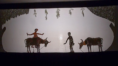 Photo: We had entetainment during our dinner.  These are shadow puppets.