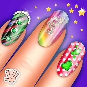 Fashion Nail Art Salon Spa Manicure Girl