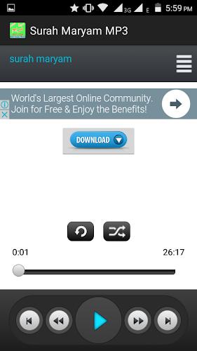 Download Surah Maryam mp3 APK latest version app by islam360