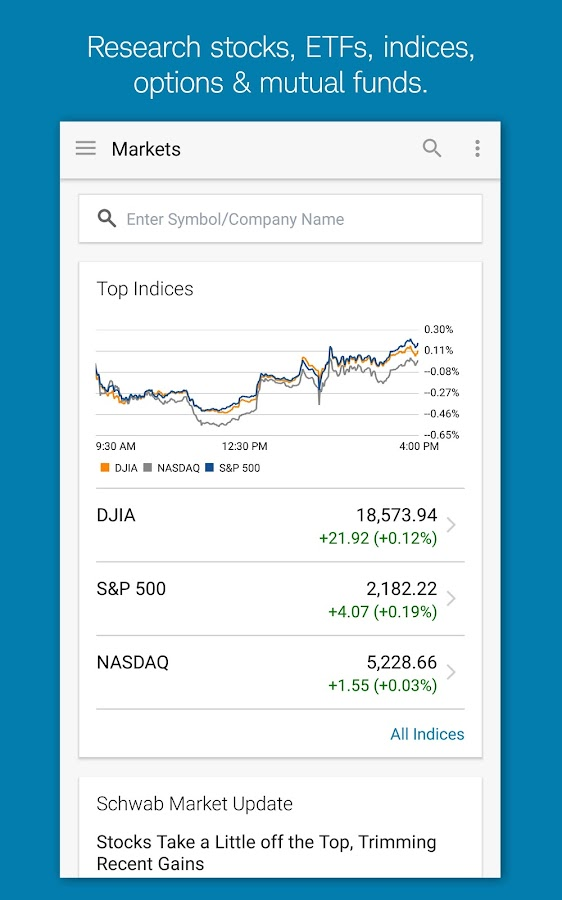 Schwab Mobile- screenshot