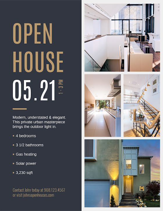 Understated Open House - Flyer Template