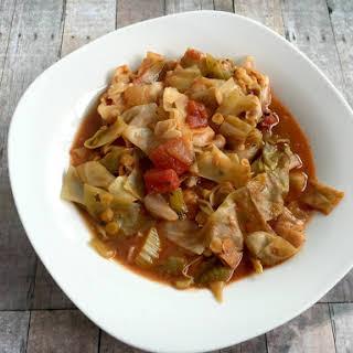 Vegan Lentil Cabbage Tomato Soup.