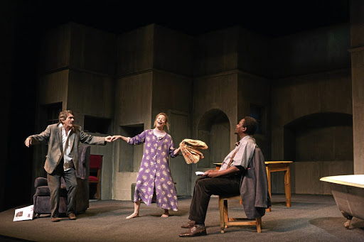 Exceptional acting: Andrew Buckland, Jennifer Steyn and Mncedisi Shabangu in The Inconvenience of Wings. Picture: OSCAR O'RYAN