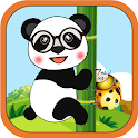 Panda Attack: Slide & Throw Bugs icon