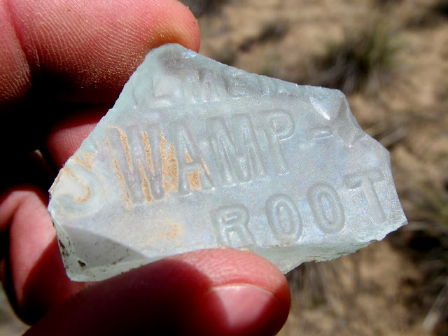 Bottle fragment from Dr. Kilmer's Swamp Root