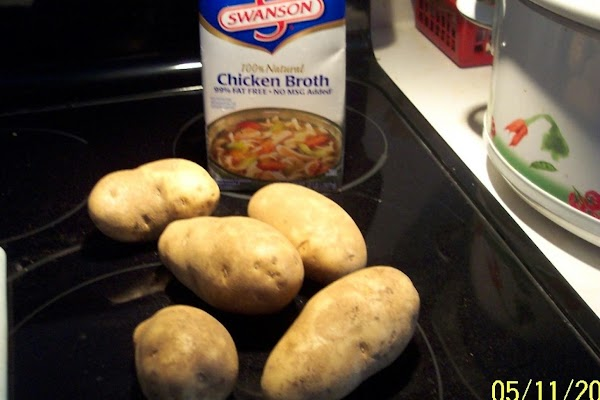 Add chicken stock and cabbage and bring to a boil; Reduce heat to simmer...