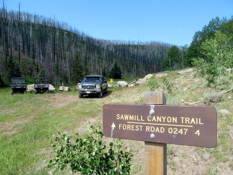 Photo: Sawmill Canyon trailhead