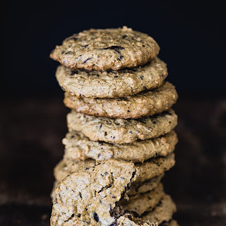 Almond Butter Oatmeal Chocolate Cookies.
