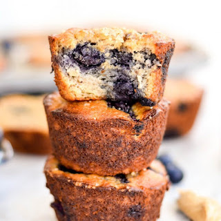 Paleo Blueberry Banana Muffins.
