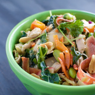 Chinese Chicken Kale Salad with Peanut Dressing
