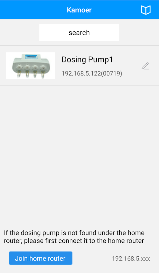 Dosing pump2- screenshot