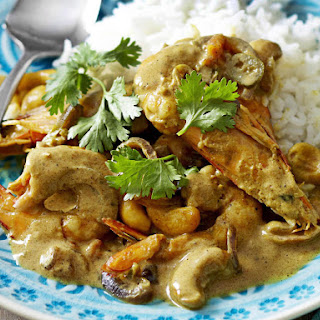 Prawn, Coconut and Cashew Curry.