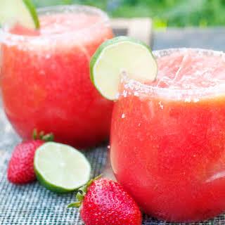 Strawberry Margaritas.