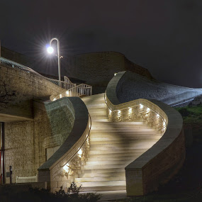 Stairs of Museum by Olivier Grau - Buildings & Architecture Architectural Detail ( stairs, long exposure, architecture, nightphotography, night shot, photography,  )