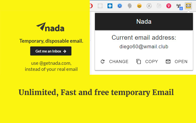 Nada - Temp mail, Disposable Email.